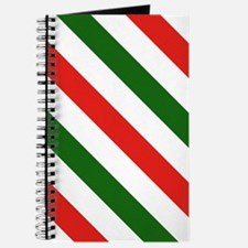 Candy Cane Stripes Holiday Pattern Journal