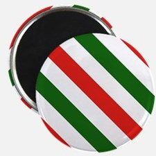 Candy Cane Stripes Holiday Pattern Magnet