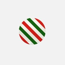 Candy Cane Stripes Holiday Pattern Mini Button