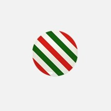 Candy Cane Stripes Holiday P Mini Button (10 pack)