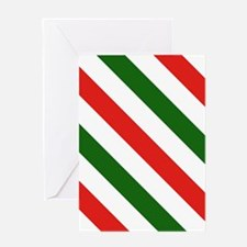 Candy Cane Stripes Holiday Pattern Greeting Card
