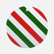 Candy Cane Stripes Holiday Pattern Round Ornament