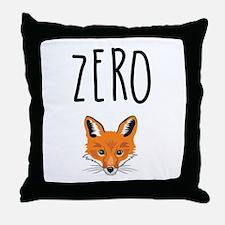 Zero Fox Throw Pillow