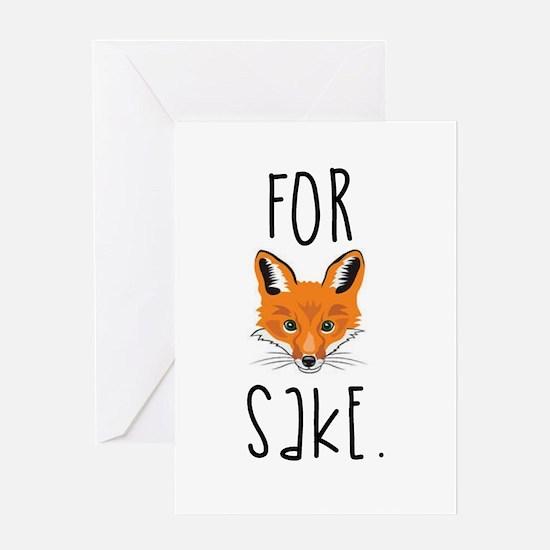 For Fox Sake Greeting Cards