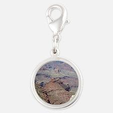 Grand Canyon South Rim, Arizon Silver Round Charm