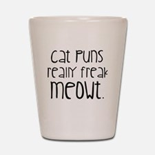 Cat Puns Shot Glass