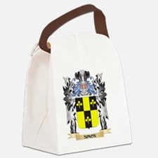 Simon Coat of Arms - Family Crest Canvas Lunch Bag