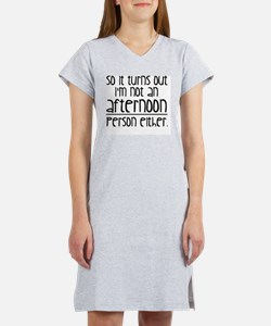 Morning or Afternoon Women's Nightshirt