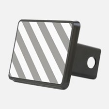 Grey, Fog: Stripes Pattern Hitch Cover