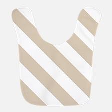 Brown, Beige: Stripes Pattern ( Polyester Baby Bib