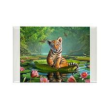 Unique Tiger Rectangle Magnet (10 pack)
