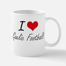 I Love Gaelic Football artistic Design Mugs