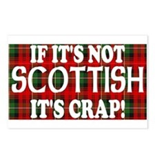 If it's not Scottish, It's Cr Postcards (Package o