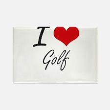 I Love Golf artistic Design Magnets