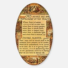 Cute St francis of assisi Sticker (Oval)