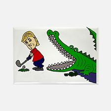Donald Trump Golphong with Alliga Rectangle Magnet