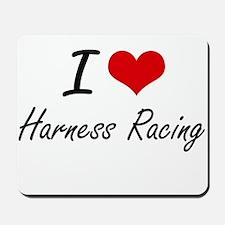 I Love Harness Racing artistic Design Mousepad