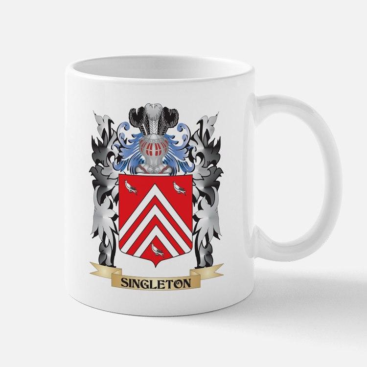 Singleton Coat of Arms - Family Crest Mugs