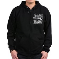 Cute Vintage train Zip Hoodie