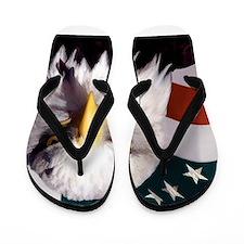 American Bald Eafle and Flag Flip Flops