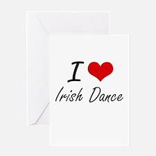 I Love Irish Dance artistic Design Greeting Cards