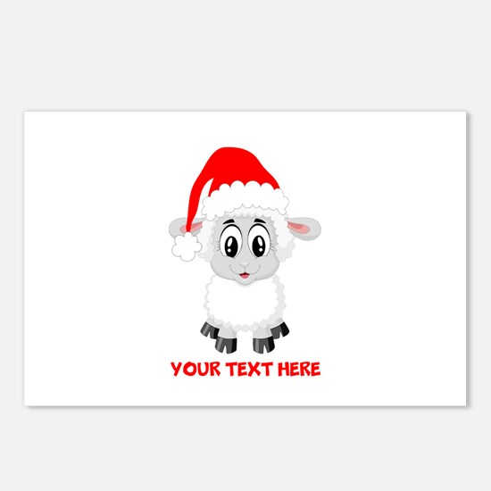 Christmas Santa Sheep Bab Postcards (Package of 8)