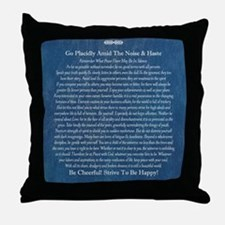 Desiderata on Blue Denim Throw Pillow