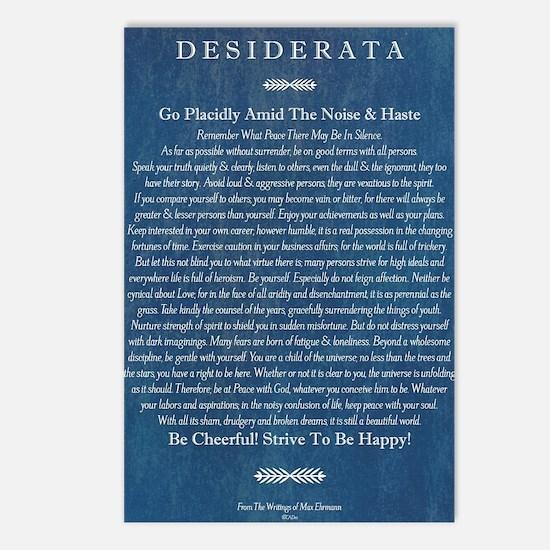 Desiderata on Blue Denim Postcards (Package of 8)