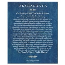 Desiderata on Blue Denim Framed Print