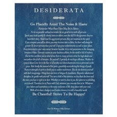 Desiderata on Blue Denim Poster