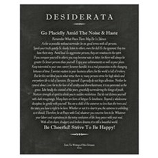Desiderata Chalk Art on Blackboard Poster