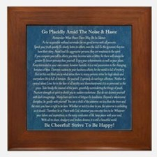Desiderata on Blue Denim Framed Tile