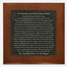 Desiderata Chalk Art on Blackboard Framed Tile