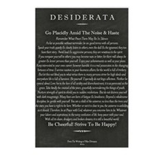 Desiderata Chalk Art on B Postcards (Package of 8)