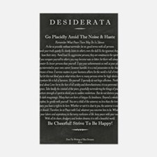 Desiderata Chalk Art on Blackb Sticker (Rectangle)