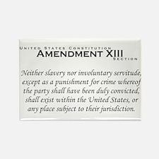 Amendment XIII Rectangle Magnet