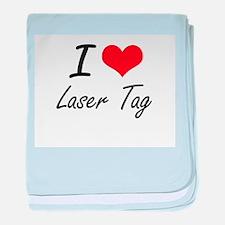 I Love Laser Tag artistic Design baby blanket