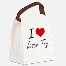 I Love Laser Tag artistic Design Canvas Lunch Bag