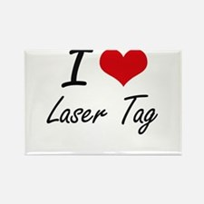 I Love Laser Tag artistic Design Magnets
