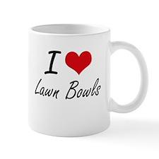 I Love Lawn Bowls artistic Design Mugs