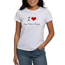 I Love Long Distance Running artistic Desi T-Shirt