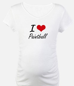 I Love Paintball artistic Design Shirt