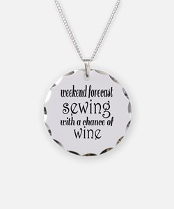 Sewing and Wine Necklace