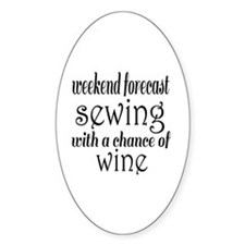 Sewing and Wine Decal