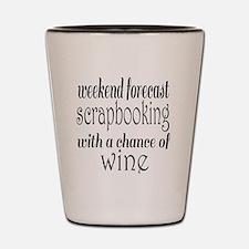 Scrapbooking and Wine Shot Glass