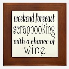 Scrapbooking and Wine Framed Tile