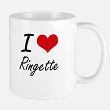 I Love Ringette artistic Design Mugs
