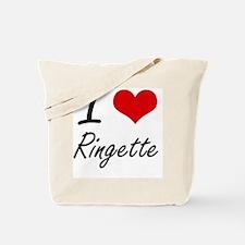 I Love Ringette artistic Design Tote Bag