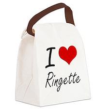 I Love Ringette artistic Design Canvas Lunch Bag
