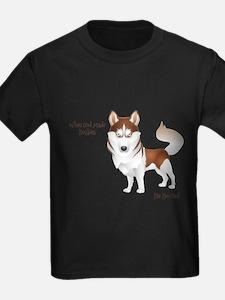 When God Made Huskies T-Shirt